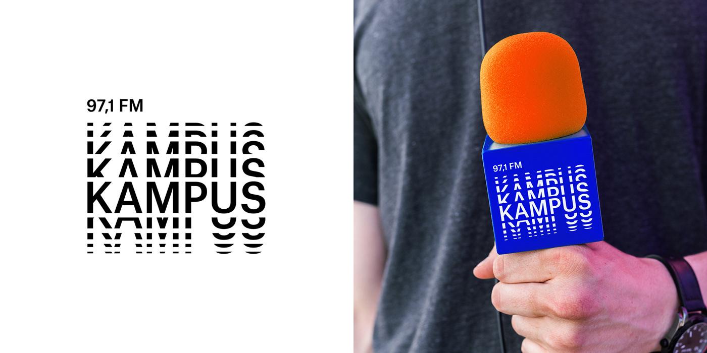 Radio kampüs  UVMW uvmwdesign branding  warsaw