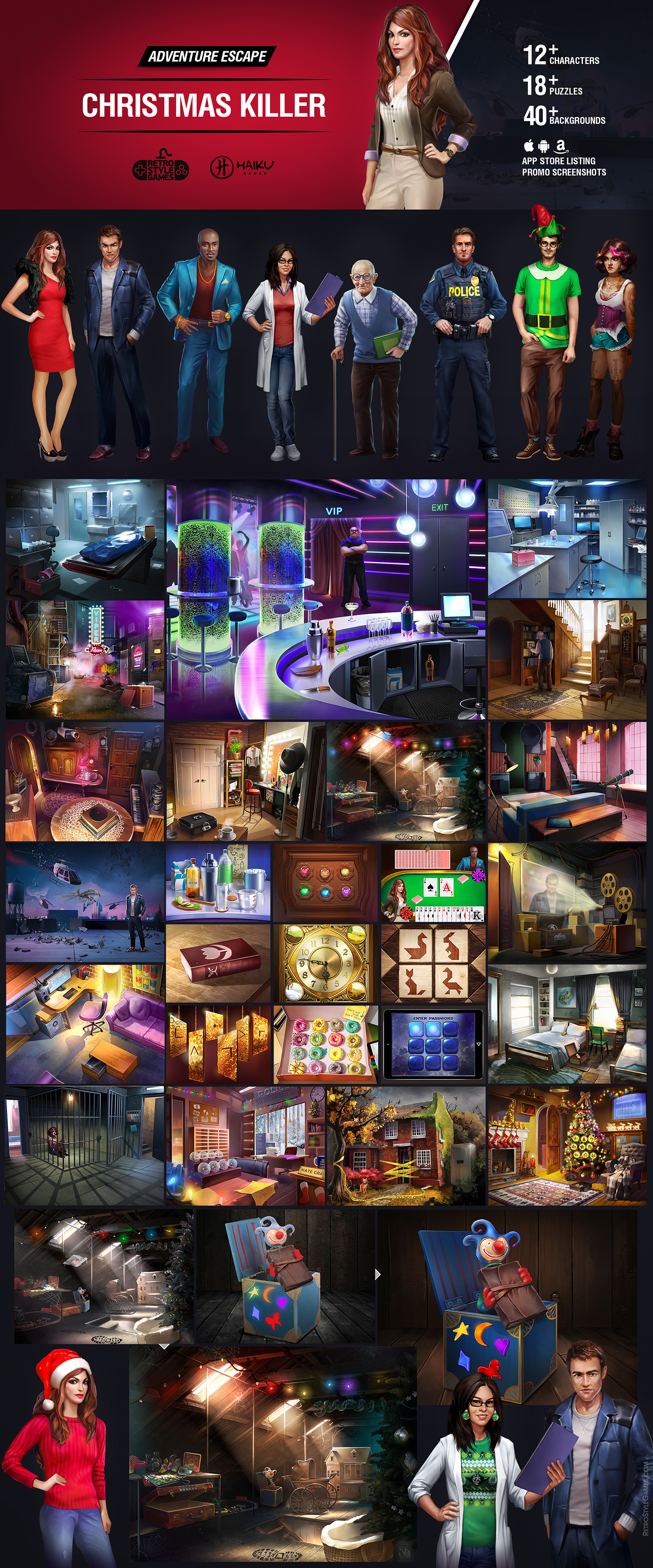 quest adventure escape HOG hidden object inventory characters mobile room