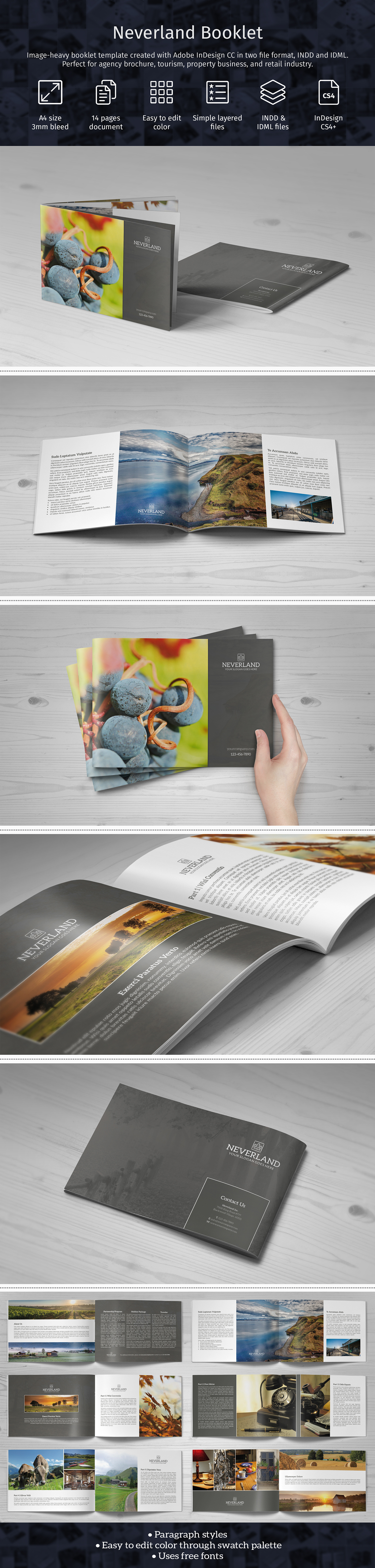 image heavy booklet on behance
