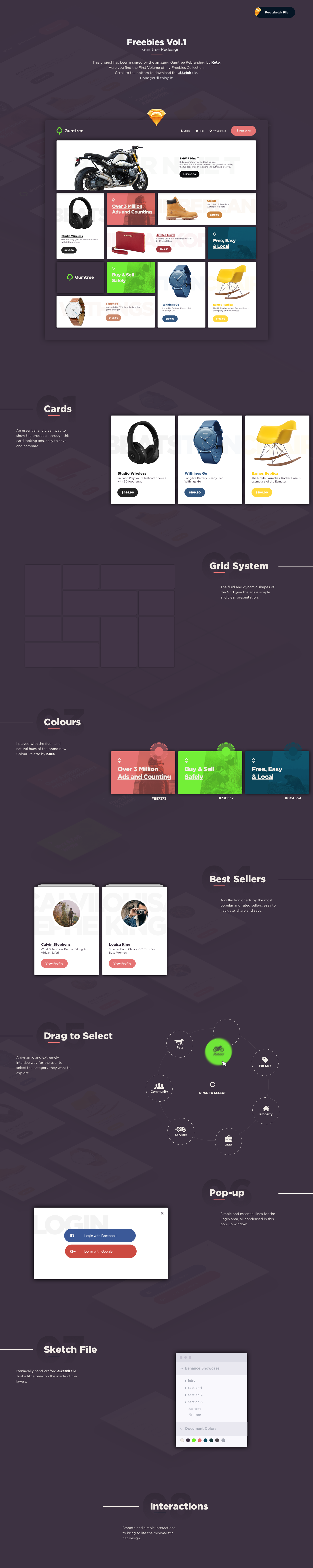 UI ux freebie freebies redesign Webdesign design flat minimal card cards gumtree Website new cool