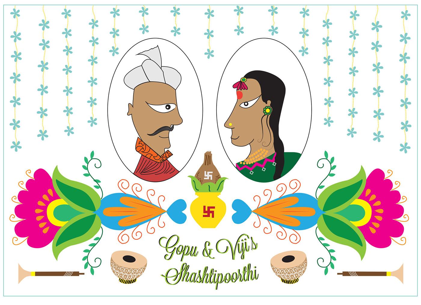 Invite design shashtipoorthi on Behance