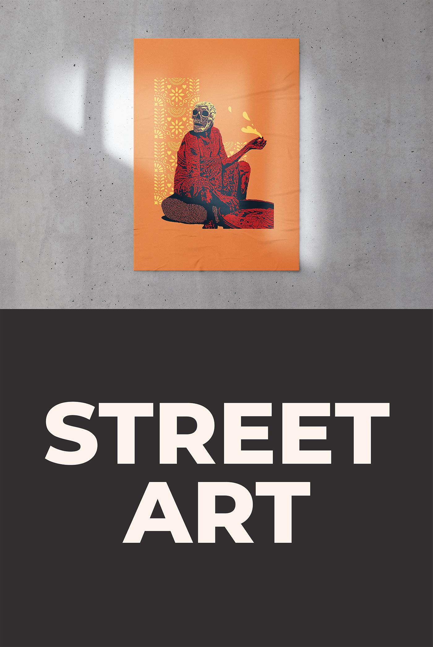 art dessin draw Drawing  ILLUSTRATION  poster print Street Street Art