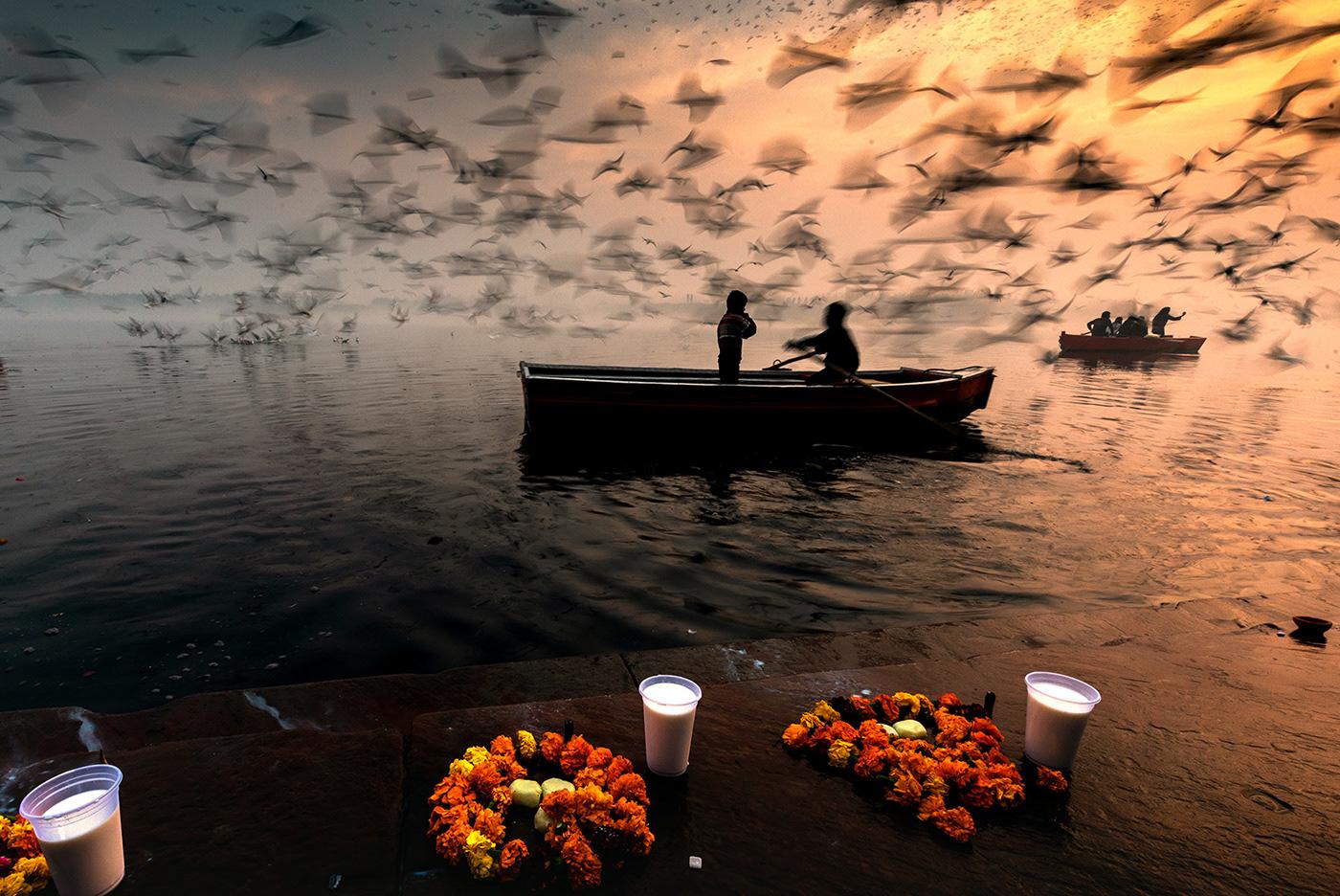 Image may contain: water, boat and lake