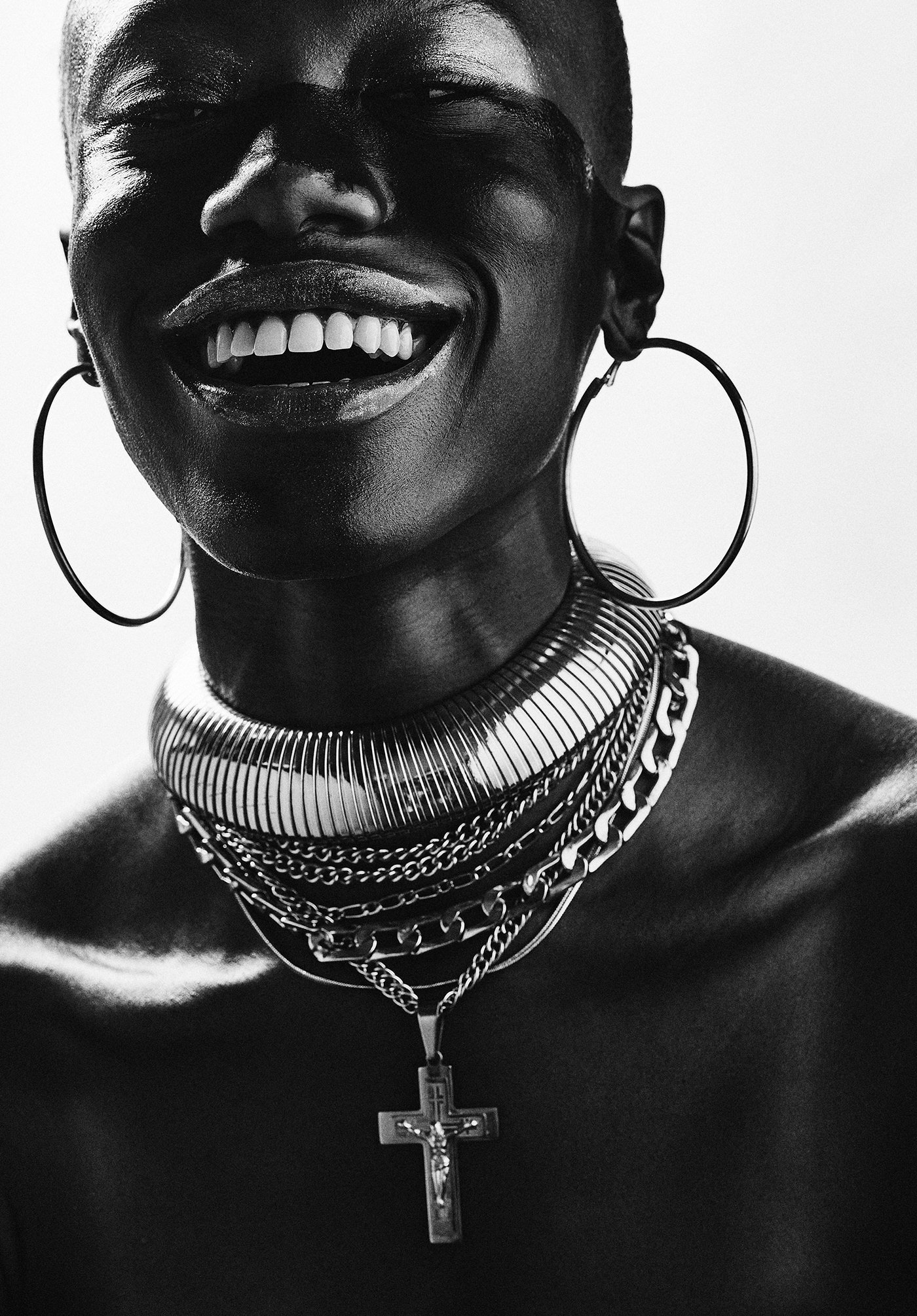 b&w beauty bnw editorial Fashion  jewelry makeup Photography  portrait warrior