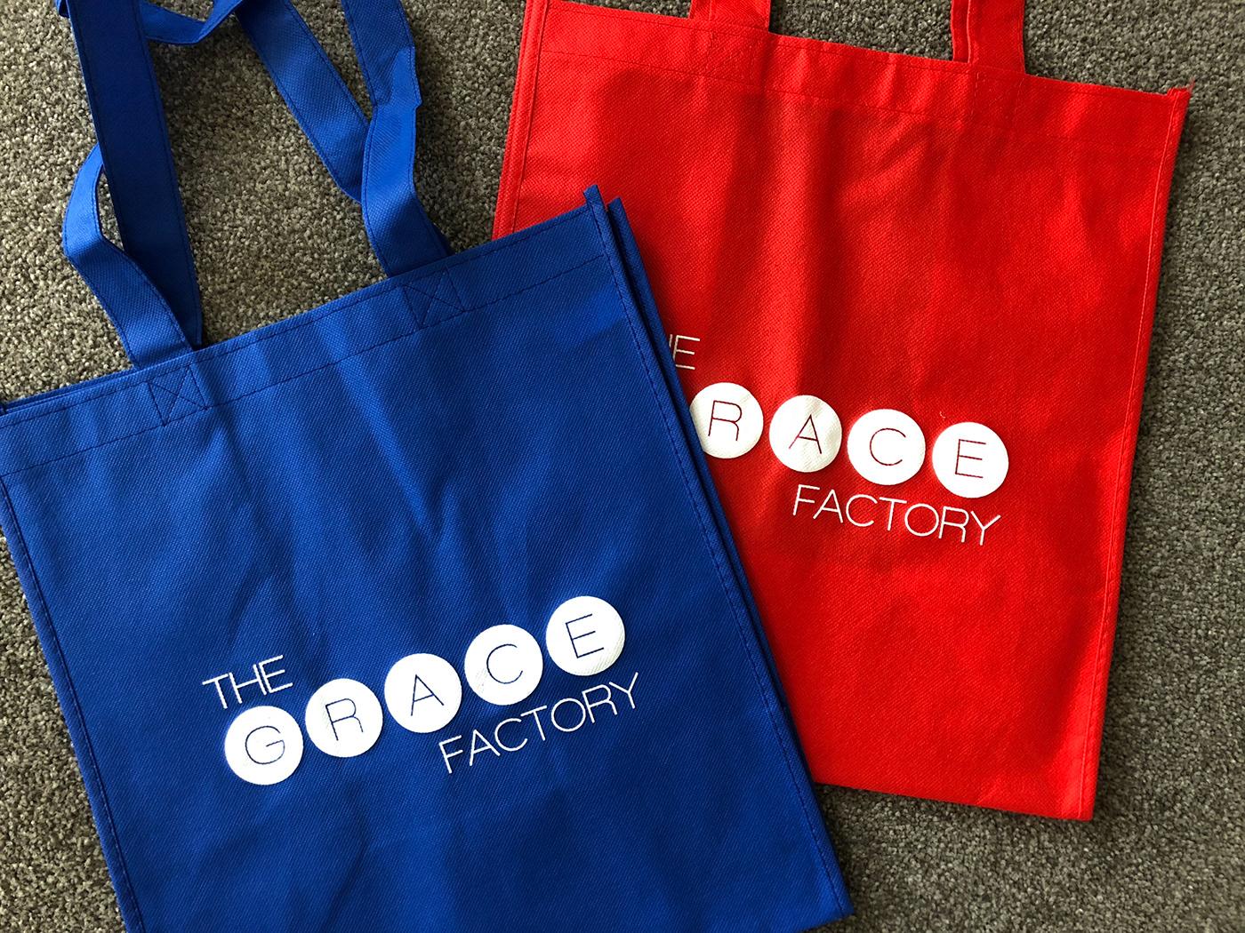 branding  bags NPO charity screen print