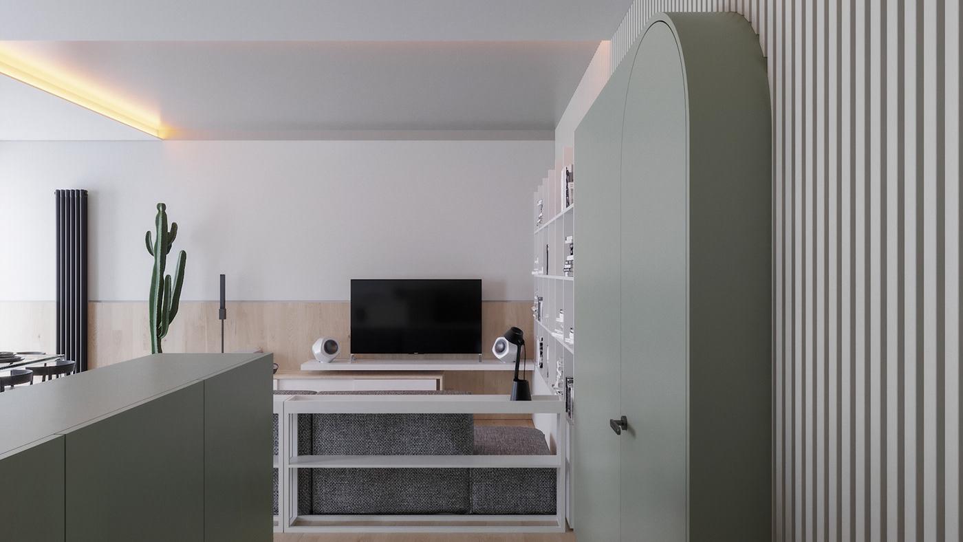 interiordesign ristrutturazione homedecor design Architettura di interni nuovo progetto SR design studio Lecco lungolago appartamento apartment Render architects interiors