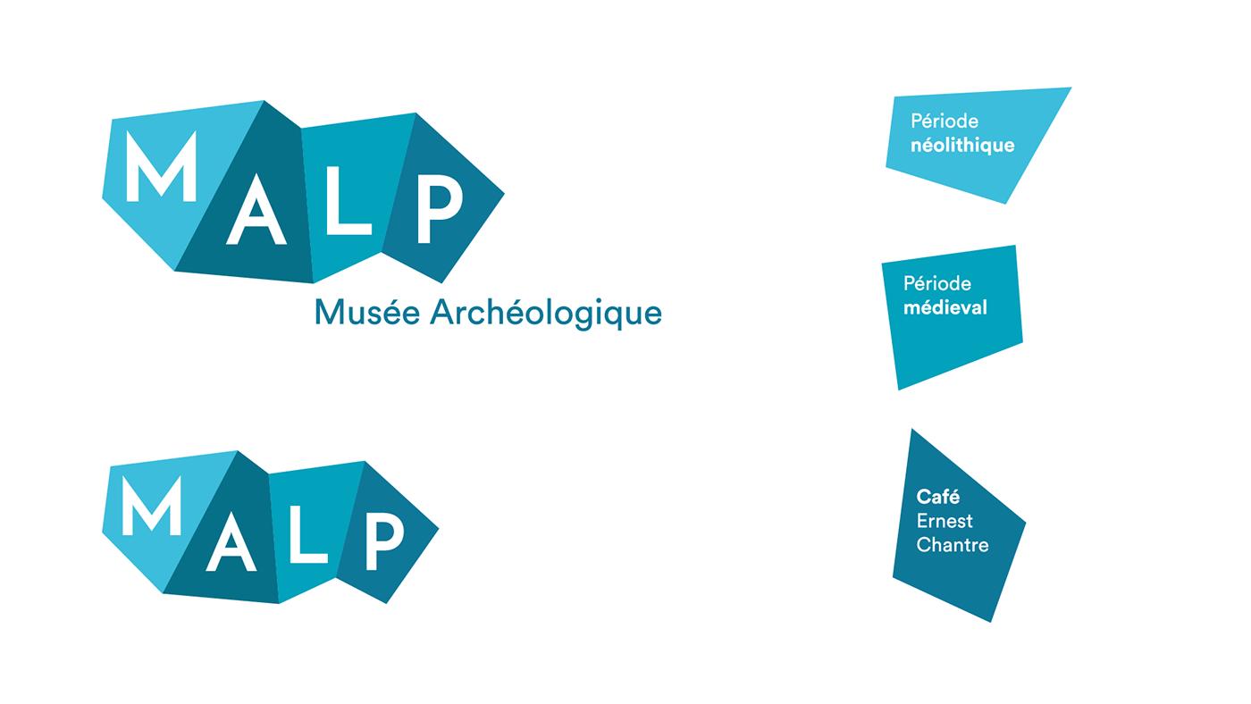 graphisme identité visuelle logo musée motion site Web animation  Archeologie