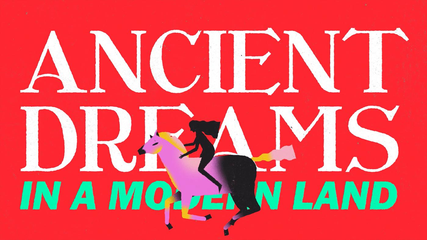 2D animation  graphic design  Lyrics Video marina motion design motion graphics  music typography