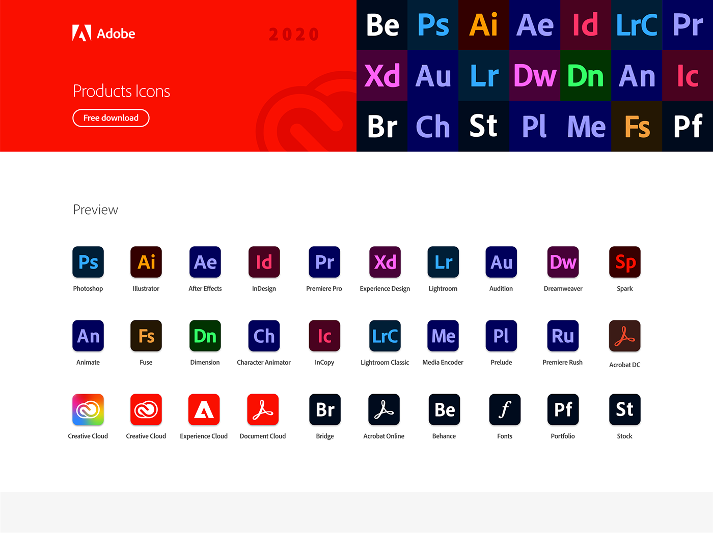 adobe Adobe XD Creative Cloud download Figma free icons Illustrator product icon vector