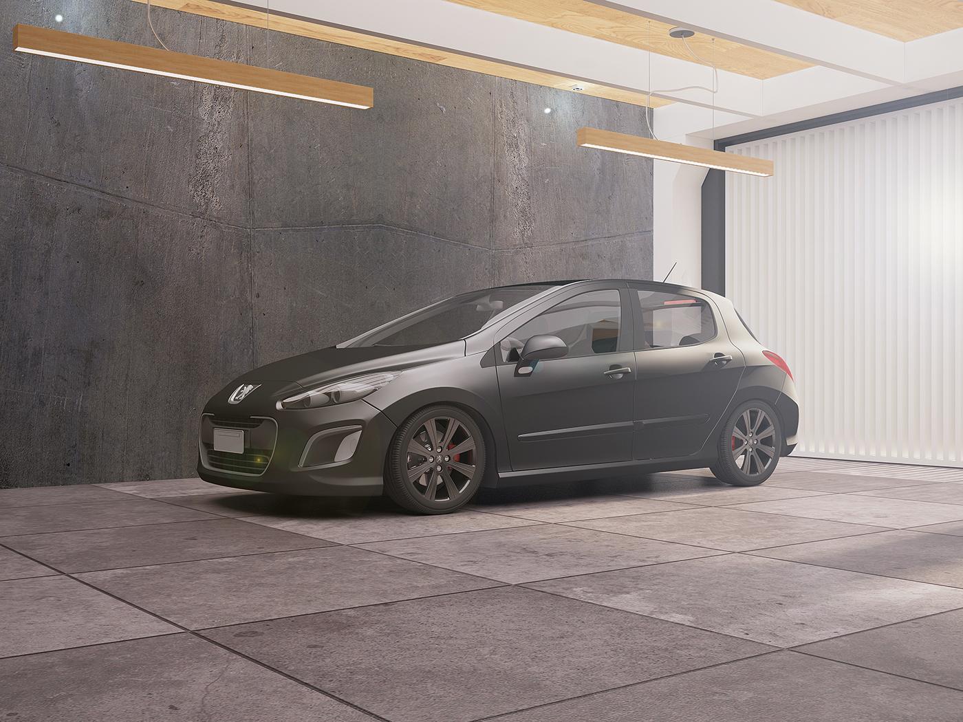 Peugeot 308 Vehicle CGI Render 3D