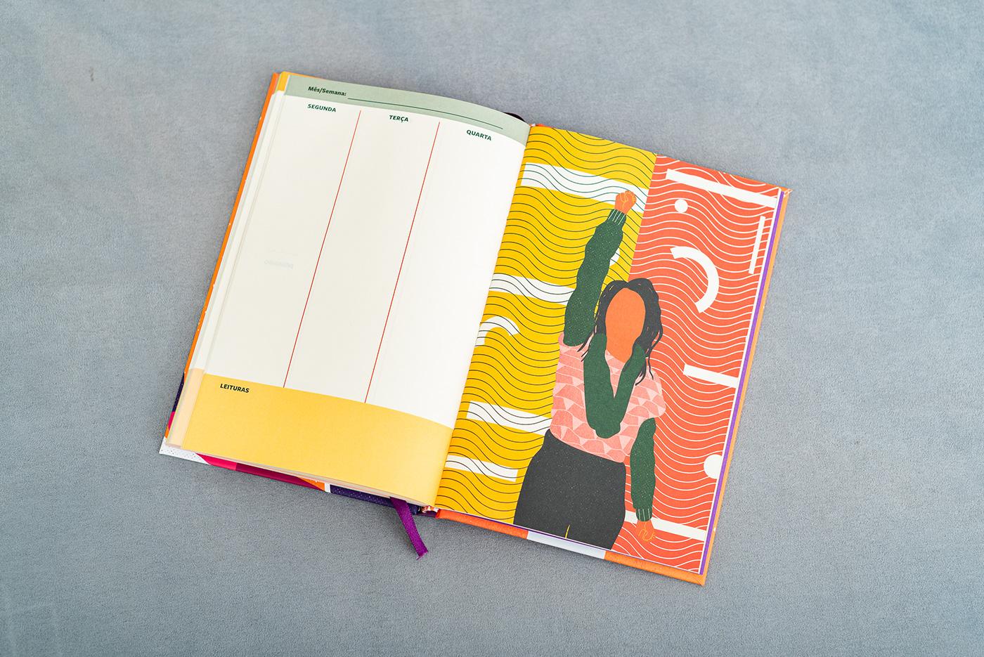ILUSTRADO literatura mulheres planner women