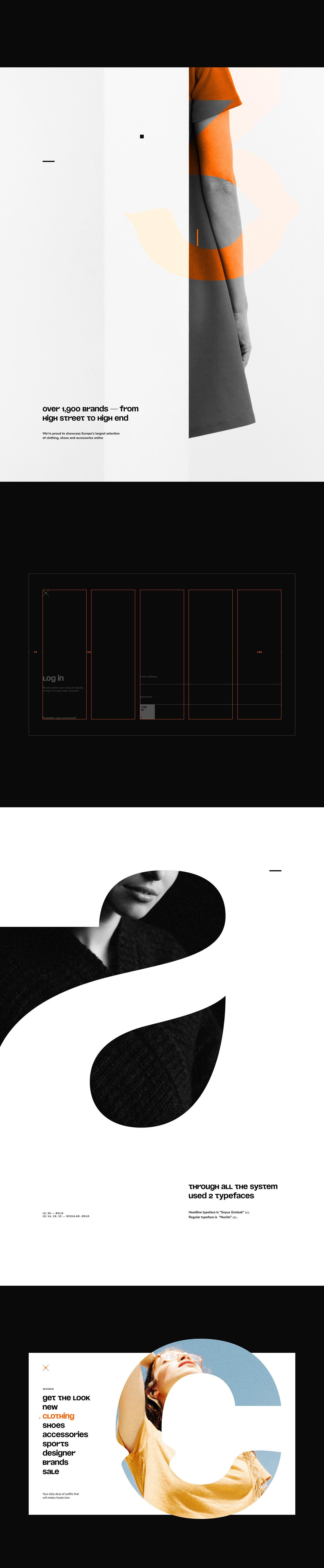 zalando,store,trands,Fashion ,redesign,design,Clothing,glases,typography  ,dress