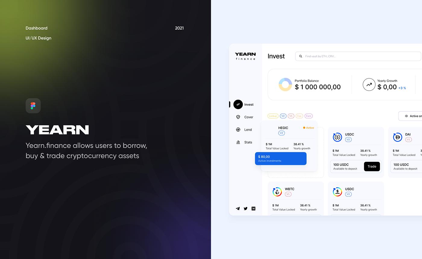 crypto dashboard finance invest Platform UI UI/UX ux Webdesign Fintech