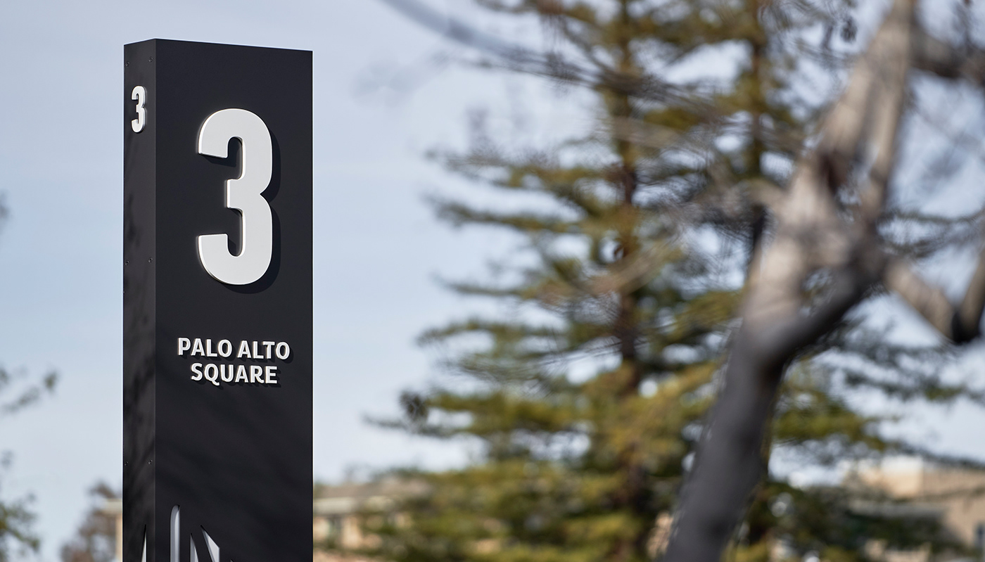 California design exterior signage inplace palo alto sign Signage wayfinding