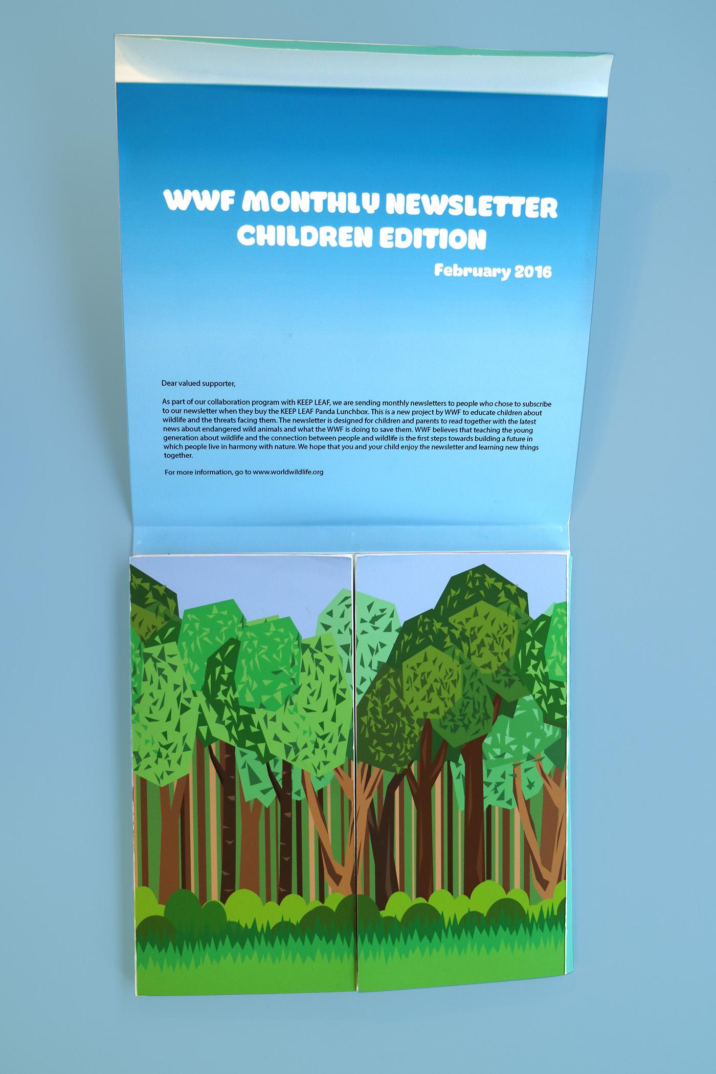 wwf newsletter for children on behance
