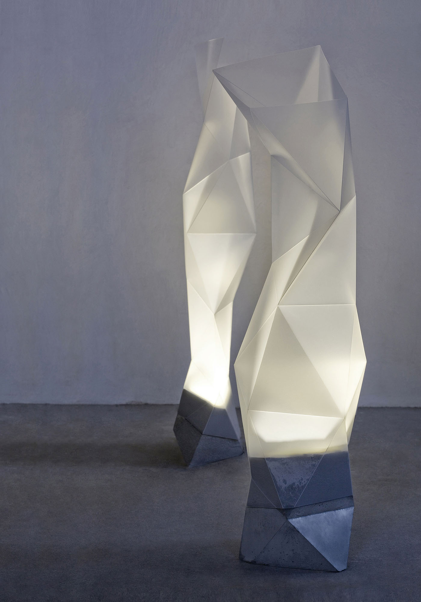 Luksfera Is A Mood Light Decorative Floor Lamp Line Inspired By Paper Folding Techniques