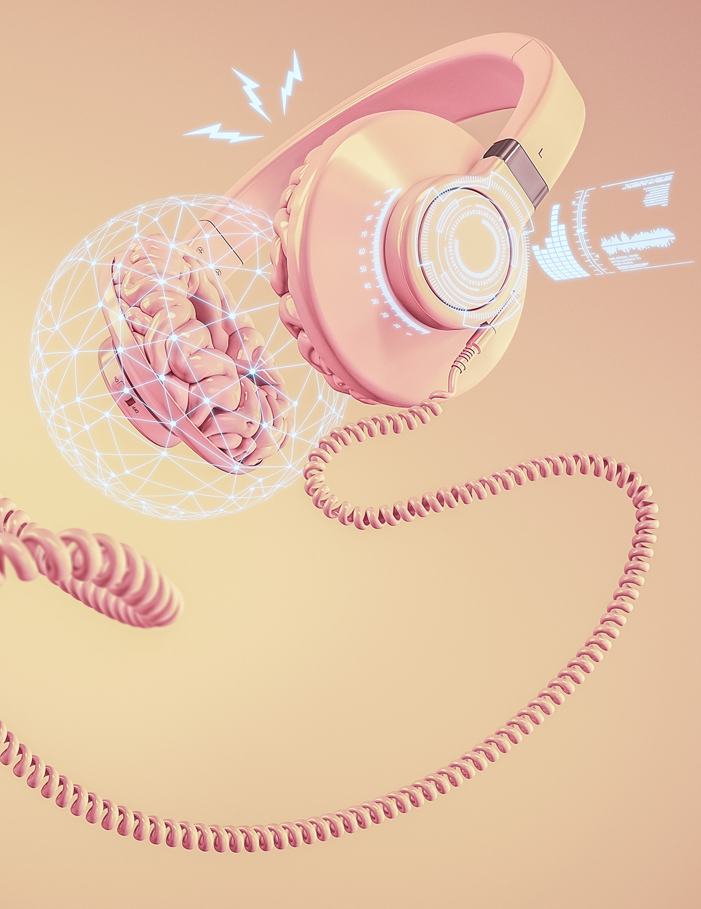 brain headphone sound ia Technology Cerebro musica genial mind artificial intelligence Inteligencia Artificial