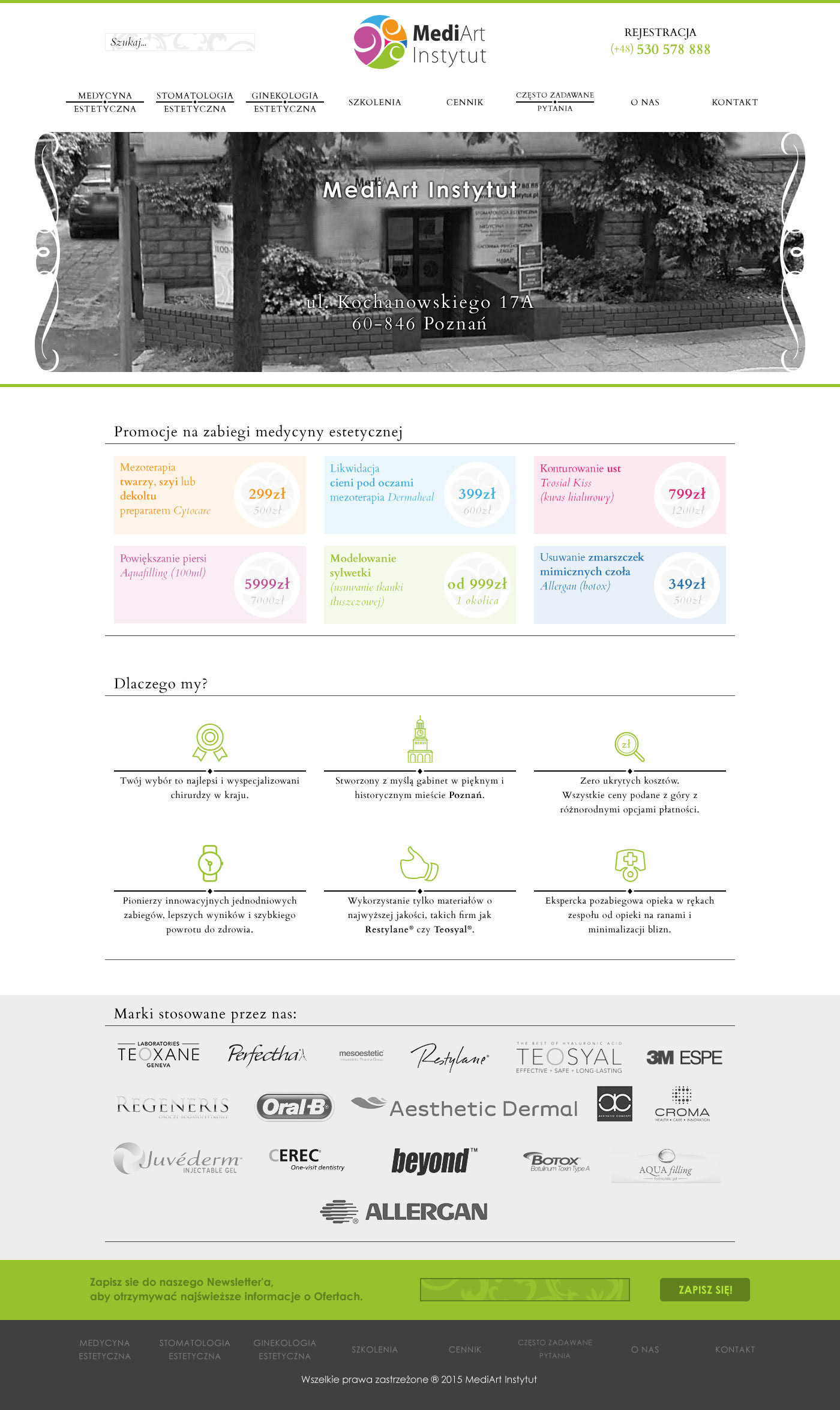 Web Webdesign www medicine aesthetic