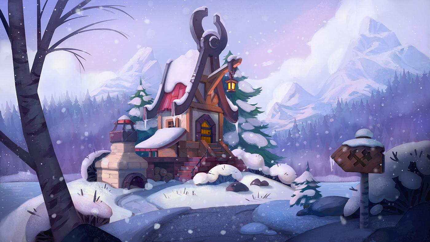 Image may contain: cartoon, snow and screenshot