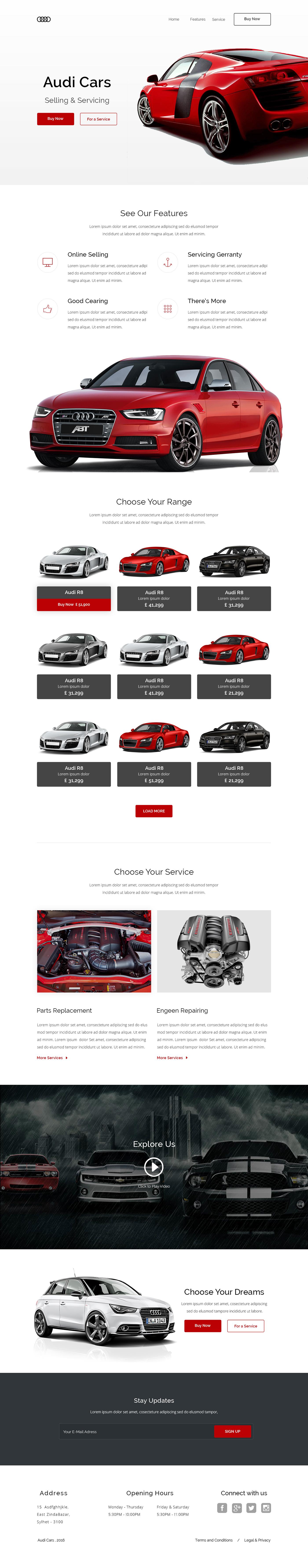 Car Selling Websites >> Audi Car Selling Website Design On Behance