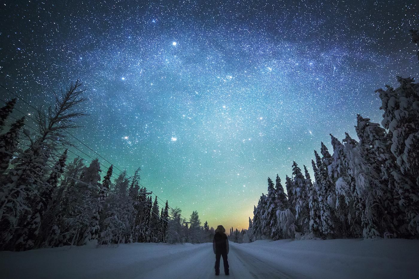 Звездная зимняя ночь картинки