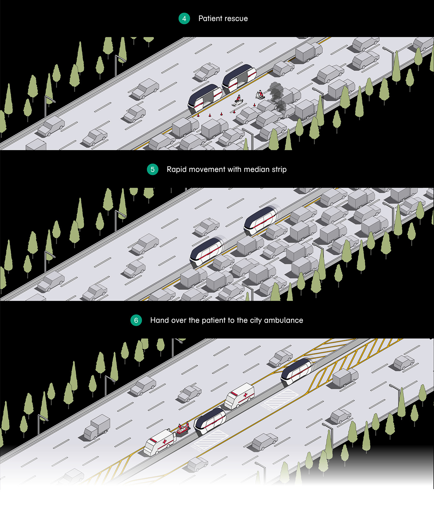 Alias ambulance Autodesk Autonomous car modeling reddot Rhinoceros UI ux