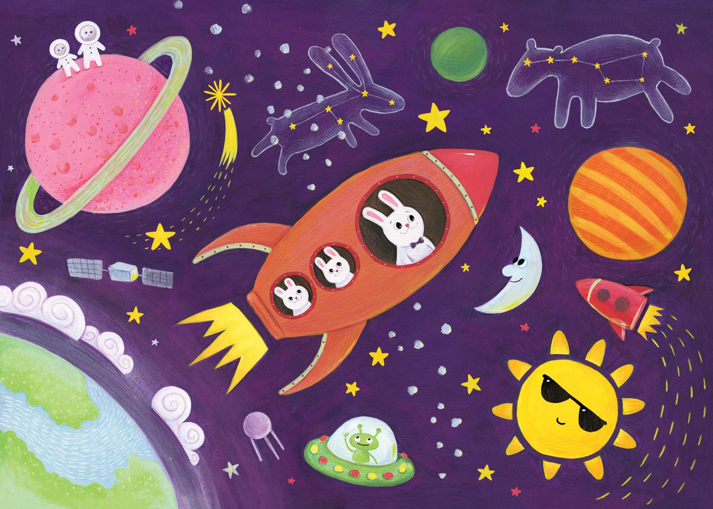 космос детям с картинками касается