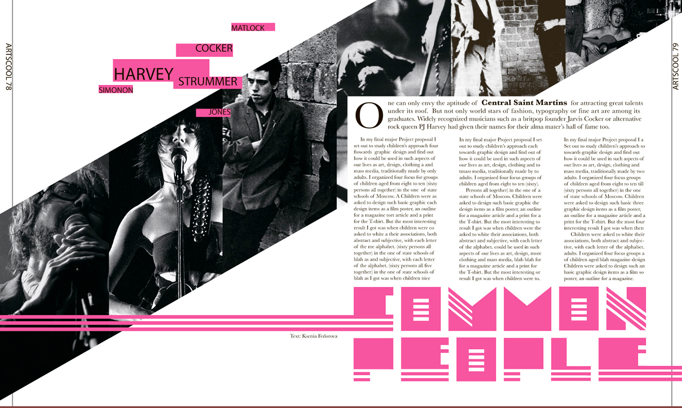 Magazine layouts on behance for Designs magazine
