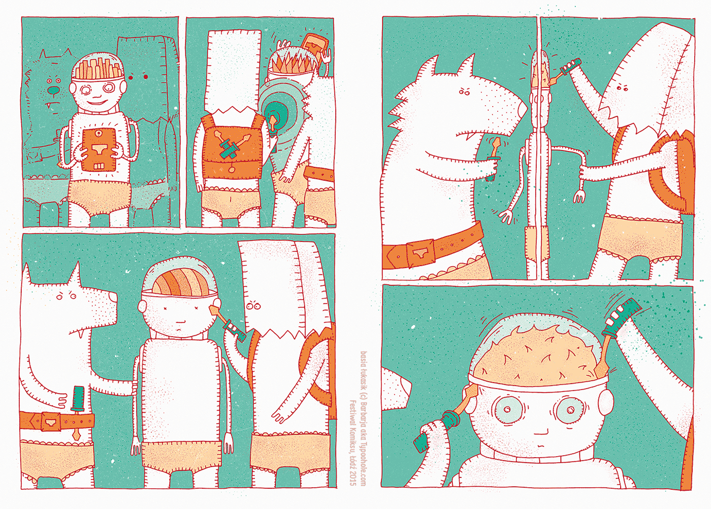 comics komiks extra Illustrator draw abstract color colour