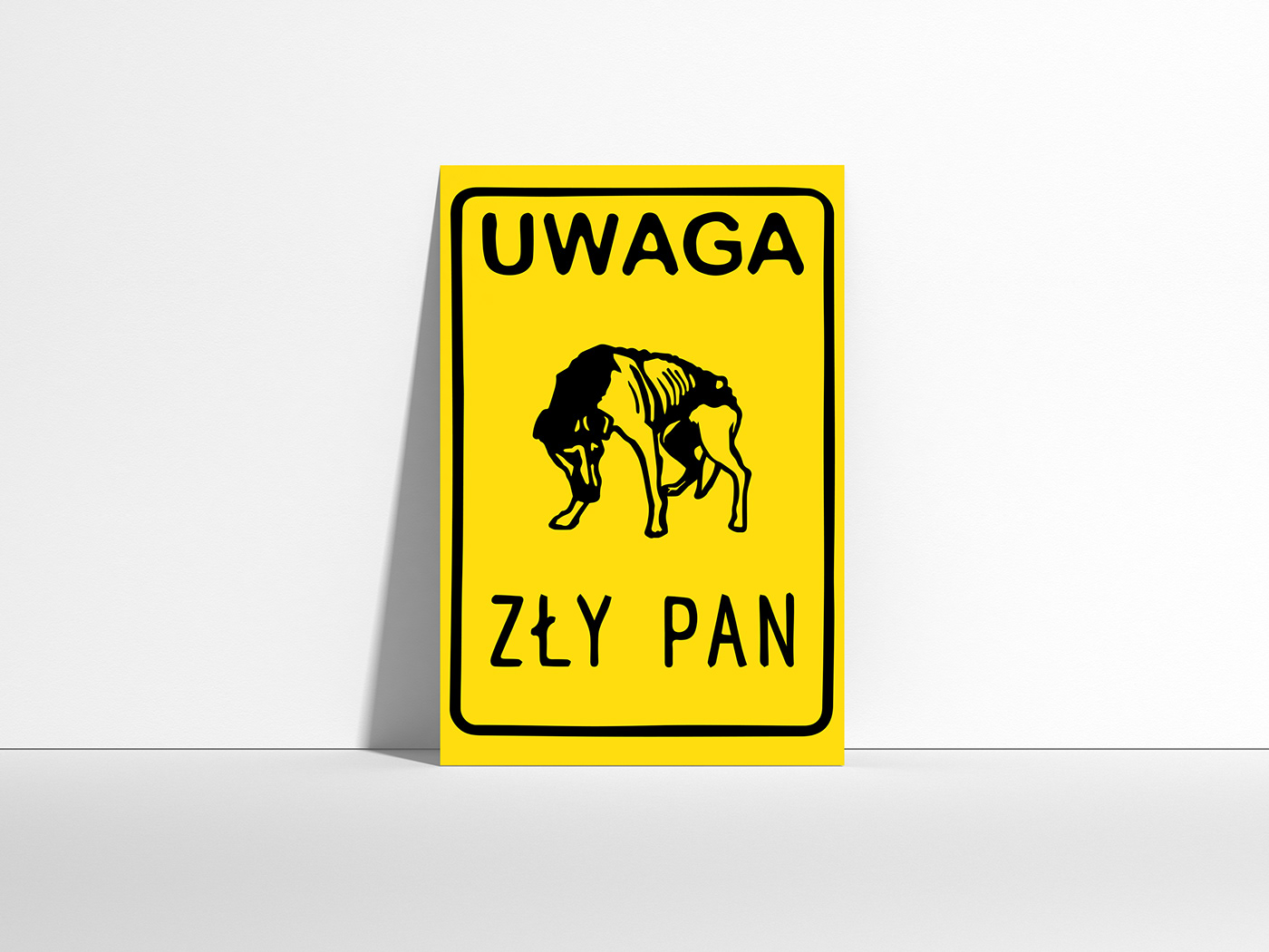 ams,animal rights,anna frydrych,dog,frydrych,graphic design ,poster,social campaign,uwaga zły pan,Beware of Bad Owner