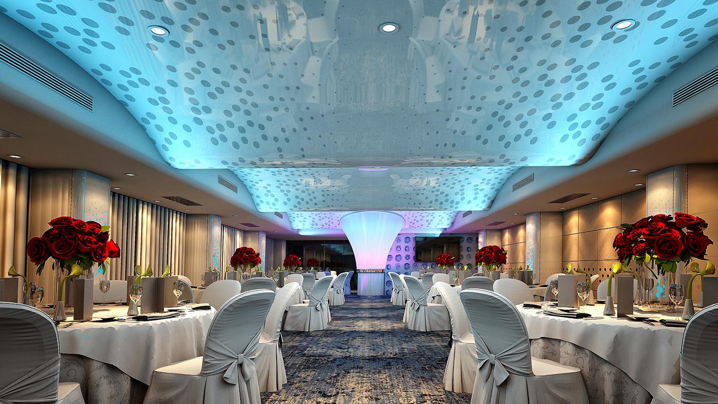 Event Hall balroom interior design  Barrisol