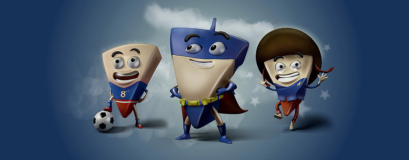 3D Advertising  Character Cheese cow design heroes laughing Promotional vietnam