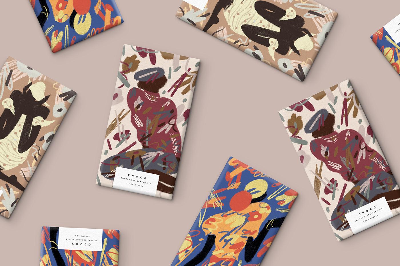 art chocolate design flavor ILLUSTRATION  Packaging Salt sweet women