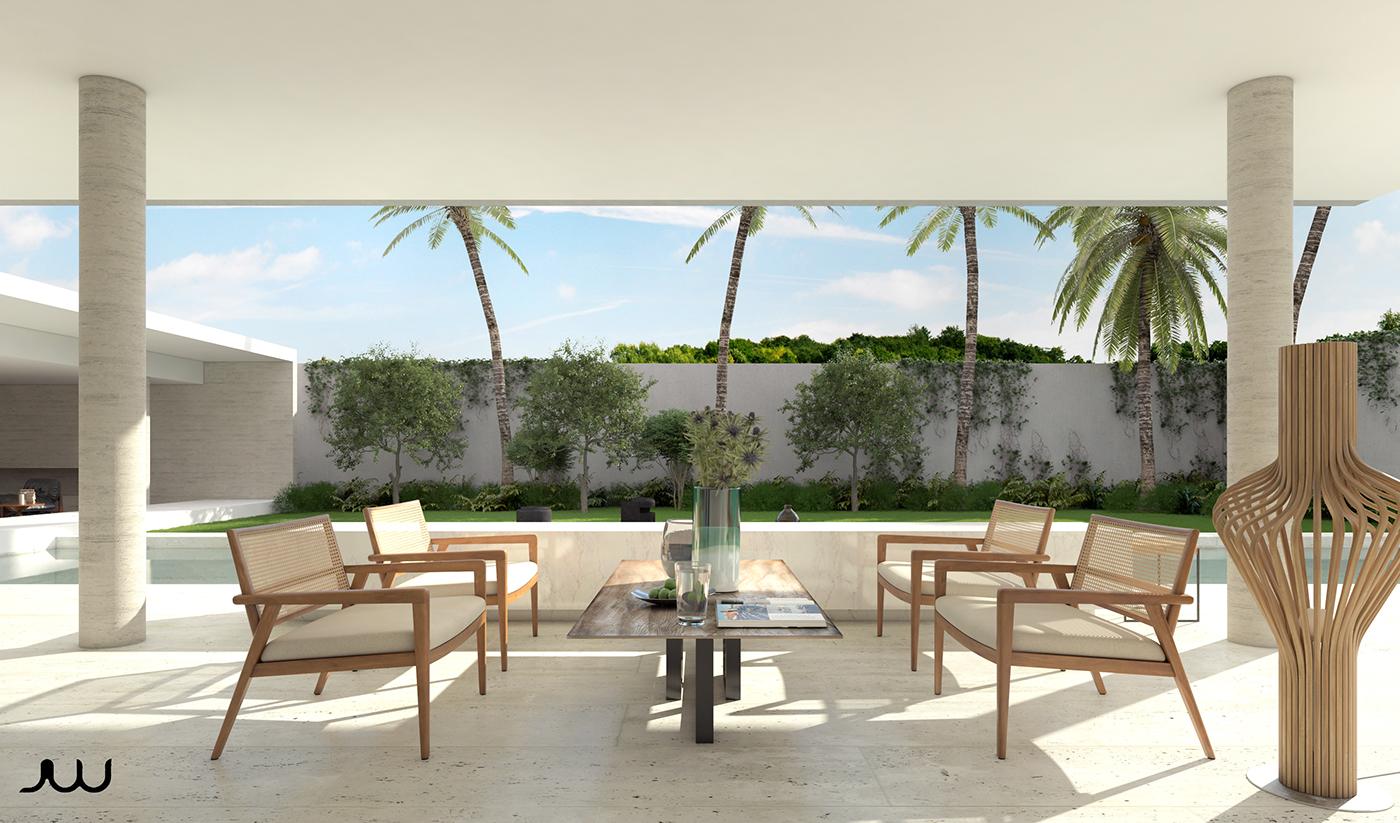 Personal interpretation of the house 6 by brazilian architect marcio kogan