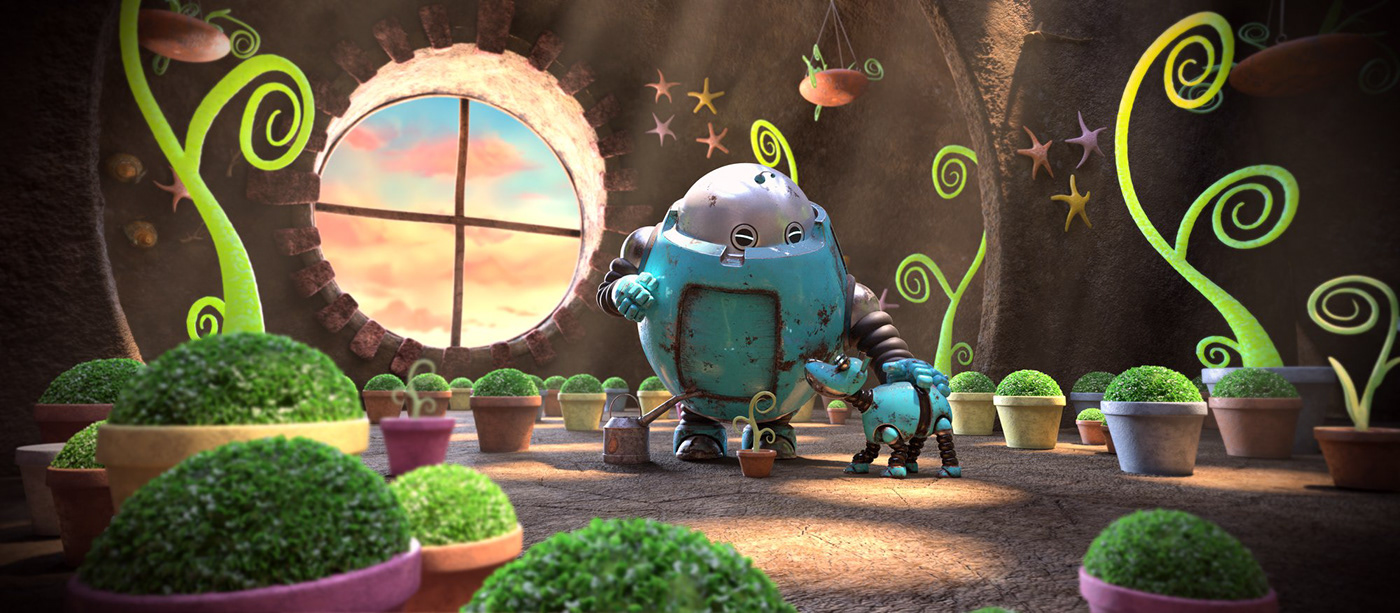 robot Whale dog shortfilm animation  characters 3dmodelling   CGI