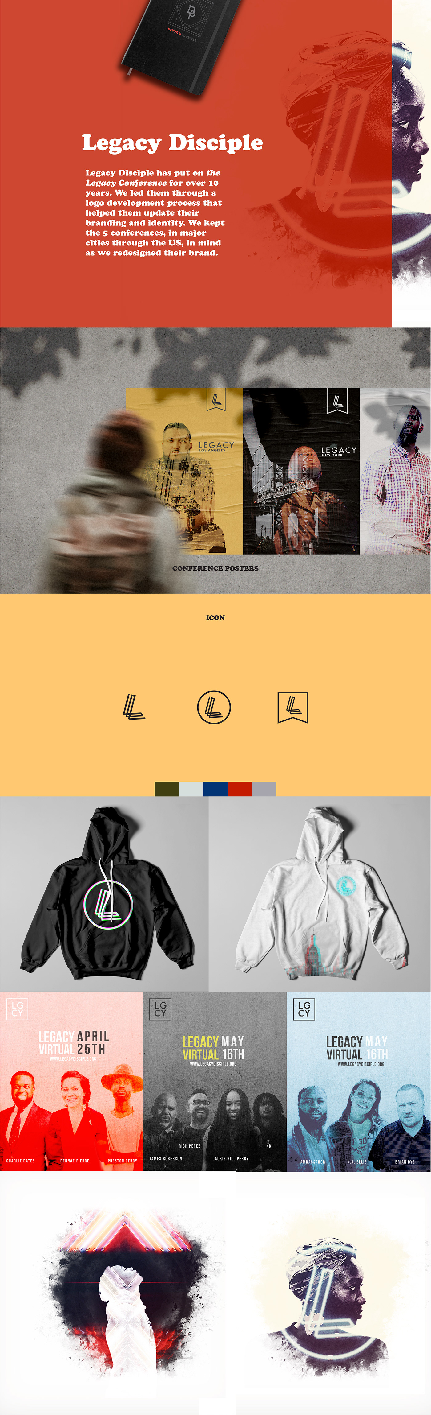 brand Christian conference design jesus Legacy Rebrand