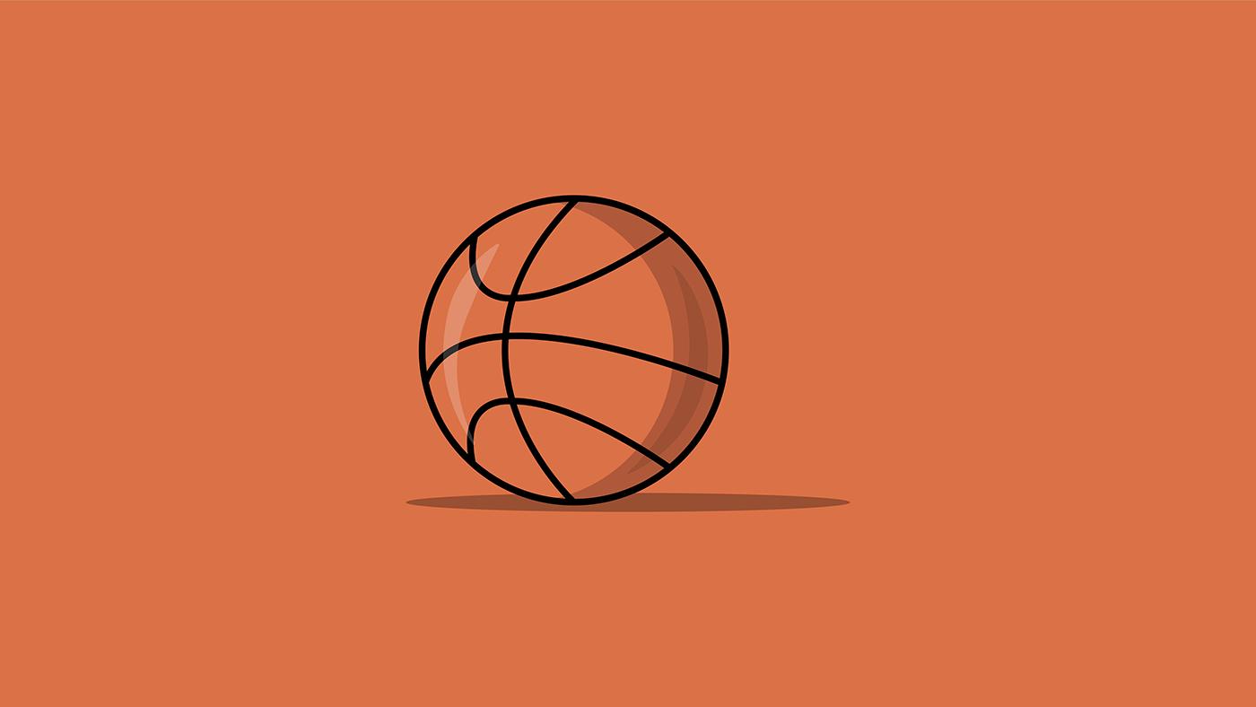 adobe art basketball Behance colors creative dribbble illustartion Illustrator sports