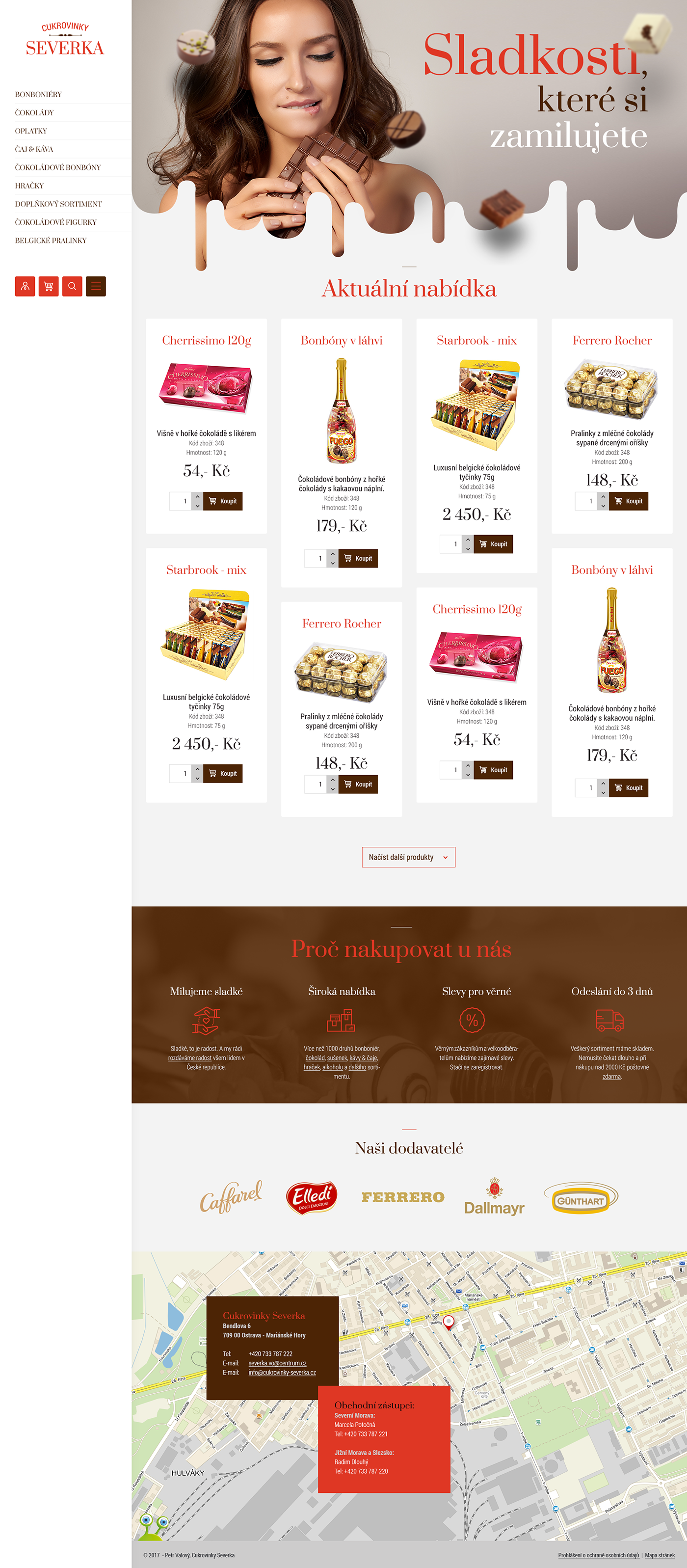 Confectionery redesign Webdesign
