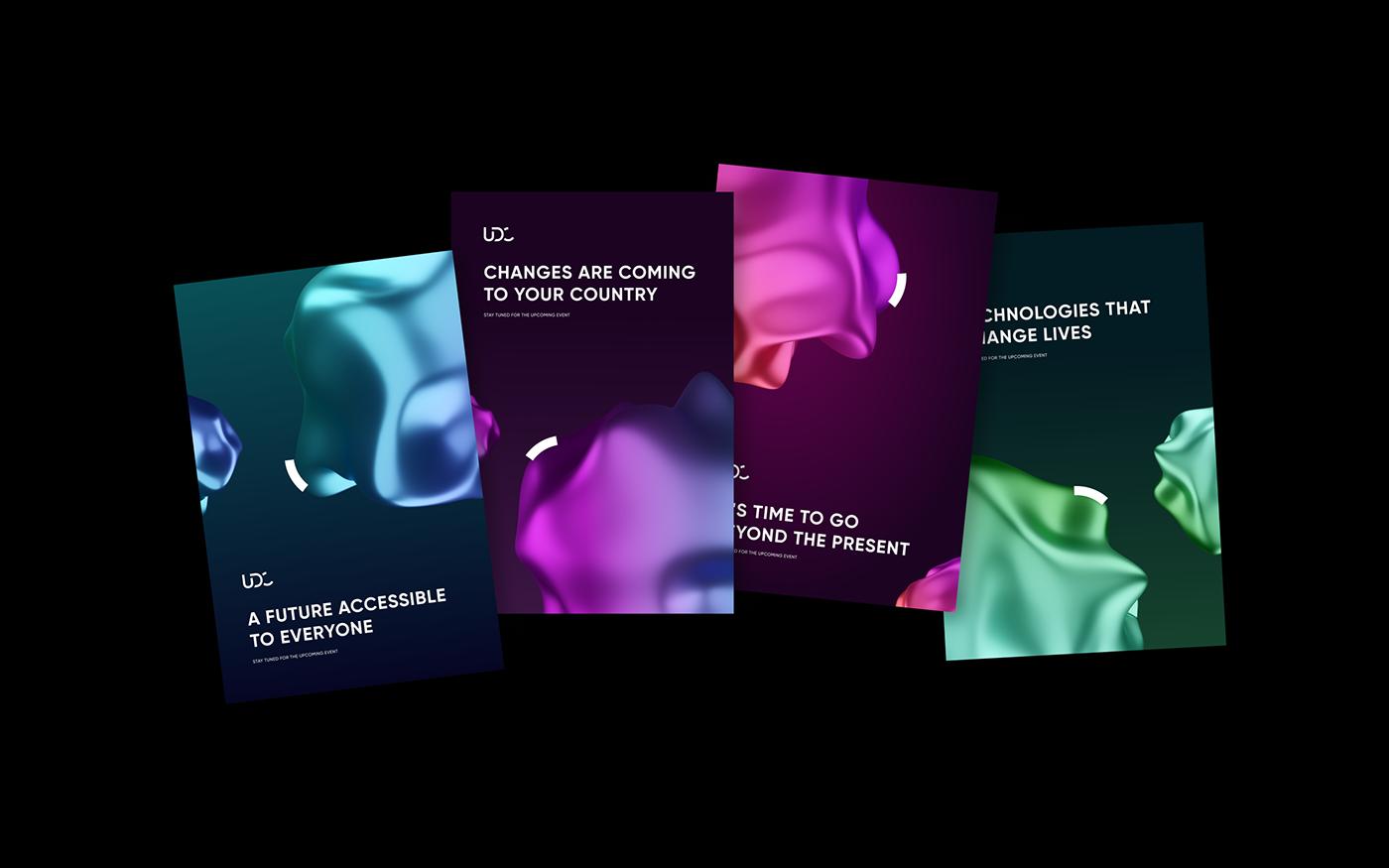 3D AR branding  conference digital graphic design  identity logo Website animation