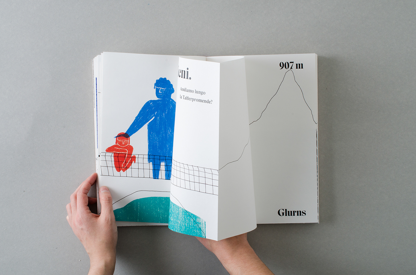 ILLUSTRATION  book Bookdesign colored pencil typography   french fold bachelor thesis University design