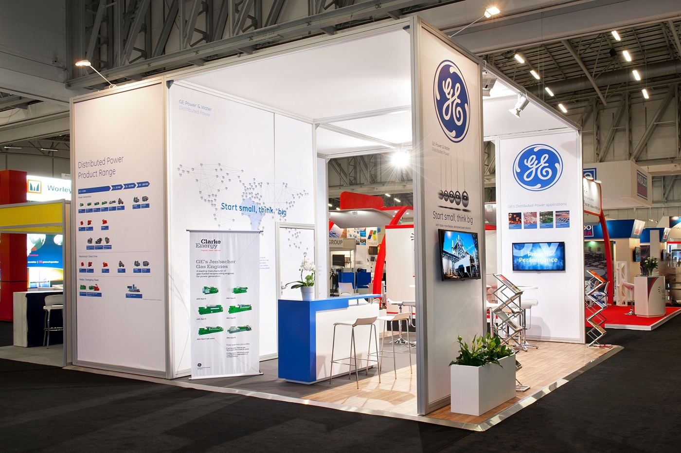 Small Exhibition Stand Year : General electric powergen africa on behance