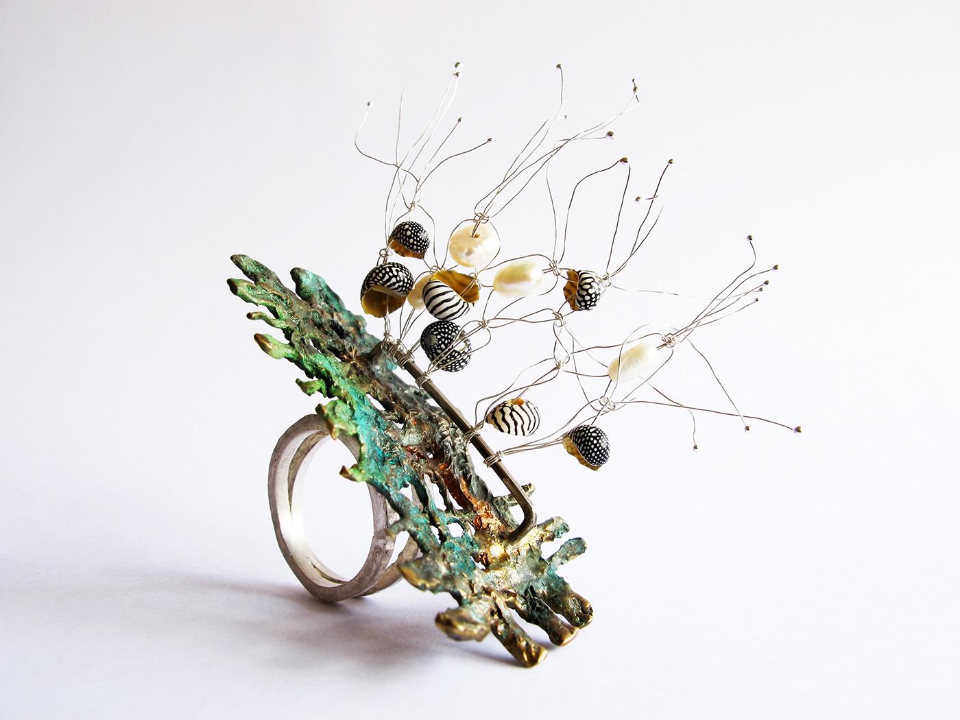 contemporary jewelery  contemporary jewelry joyeria joyería argentina Joyería contemporánea mabel pena of seas seas Shells silver 925