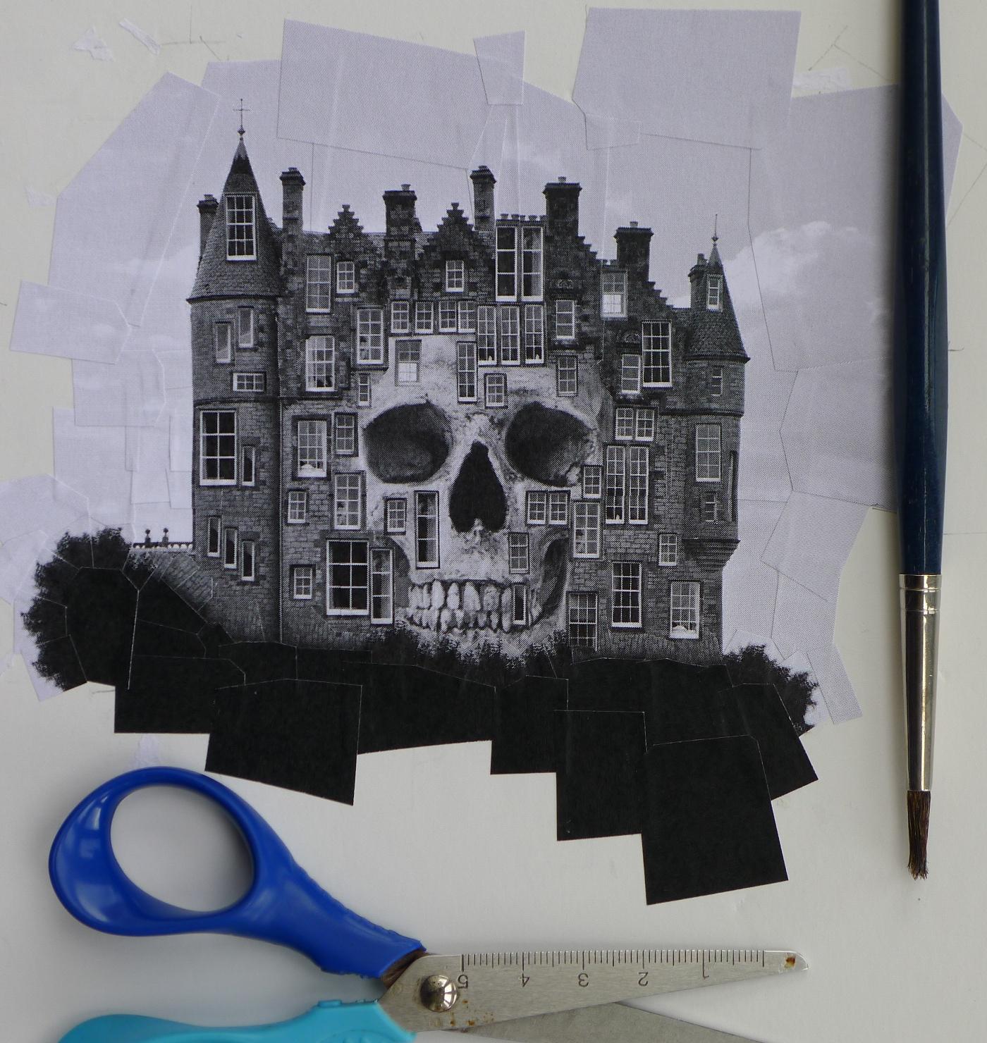 buildings paper collage Castle