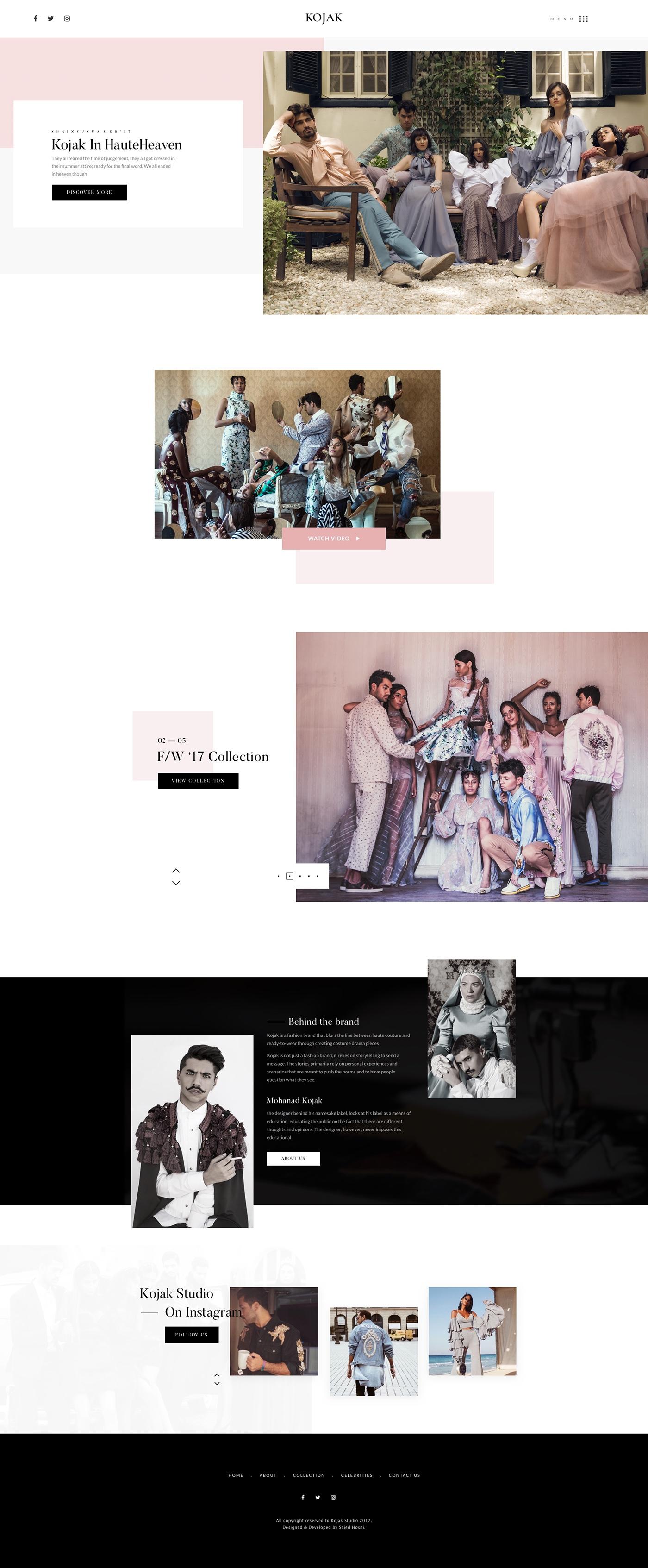 UI ux design Web Fashion  animation  interaction minimal portfolio showcase
