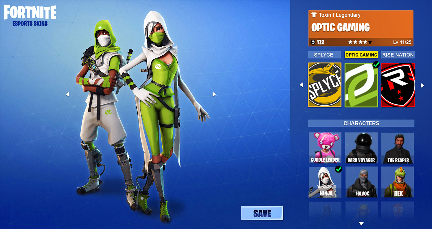 Incredible Fortnite Esports Concept Skins For Optic Luminosity