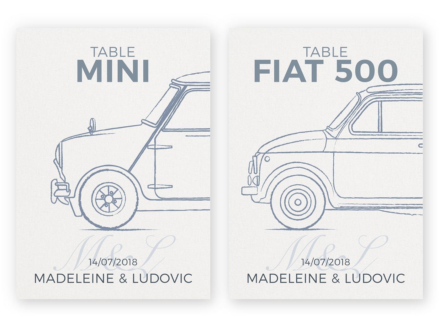 wedding,menu,ILLUSTRATION ,car,Old car,vintage car