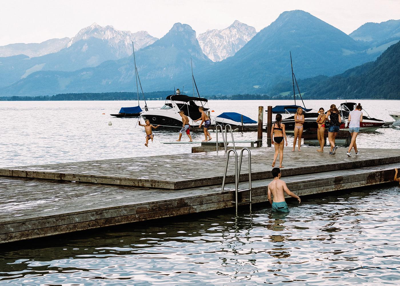 summer trip lake Fun austria