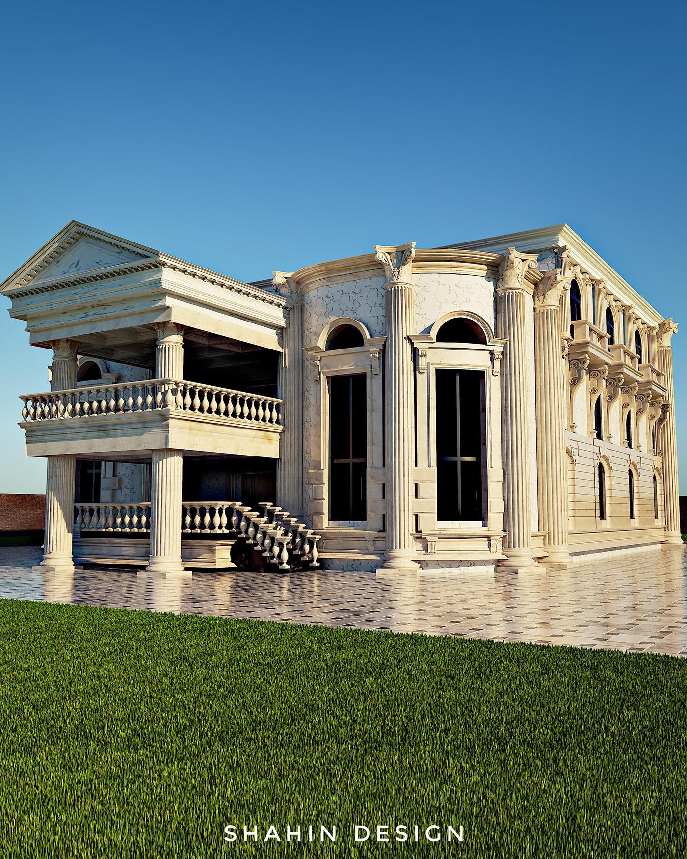 architectural design architecture archviz cg artist classic design exterior design Facade design