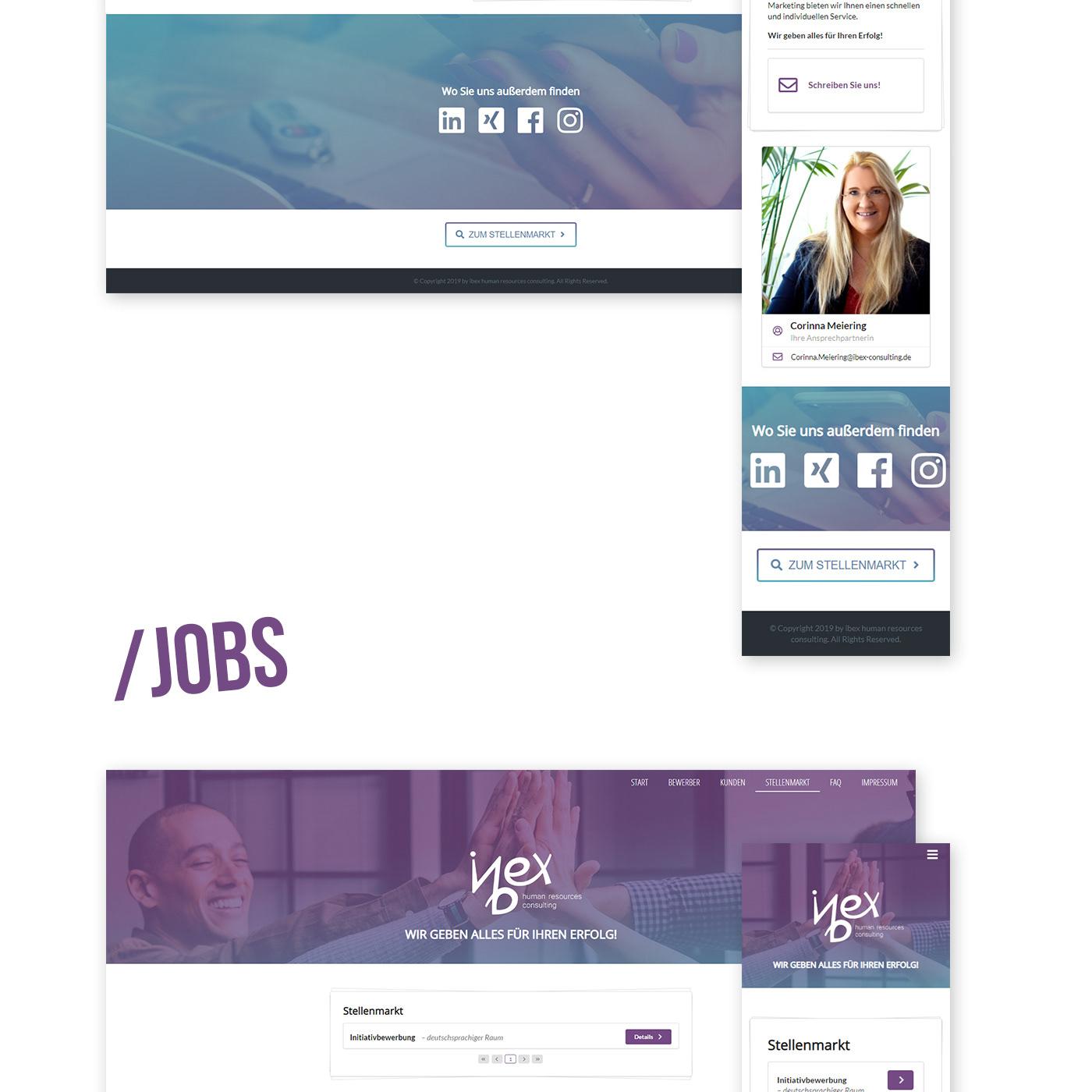 web development  Web Design  JavaScript business homepage Human Resources HR Recruiting Website