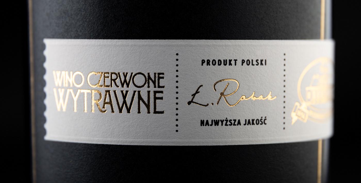 beverage foxtrot studio gold Label label design Packaging packaging design poland wine wine label
